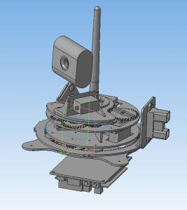 Модель второго варианта головы робота