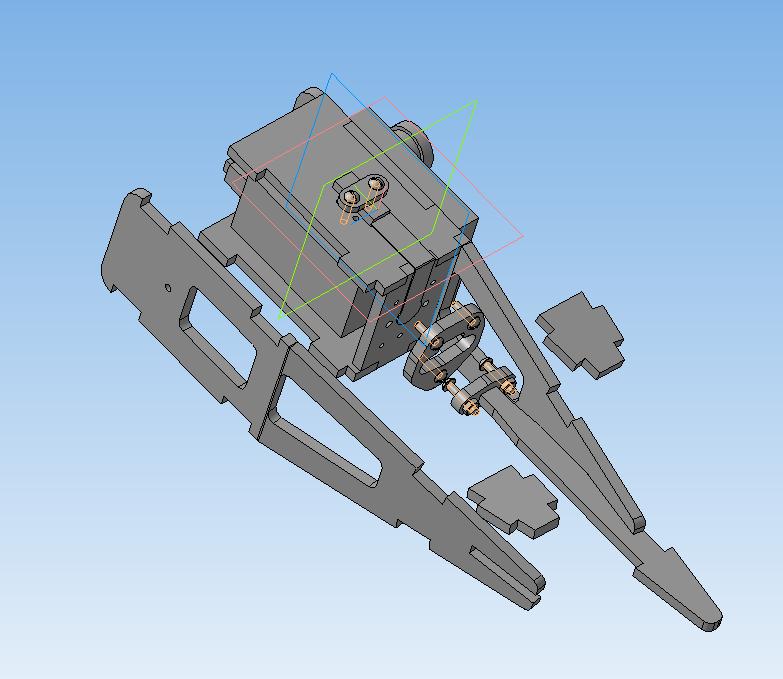 Нога робота 2 в разборе